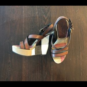 BURBERRY WARLOW WEDGE SIZE 37 NIB
